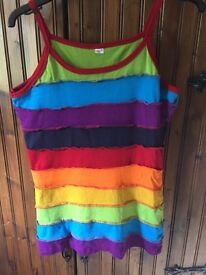 100% cotton rainbow vest/tank top