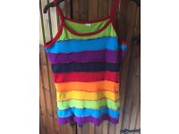 100% cotton rainbow vest/tank top