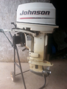 2005 30 hp johnson with stainless prop $1100