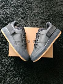 Nike air force 1 type gum Anthracite gum black uk 8