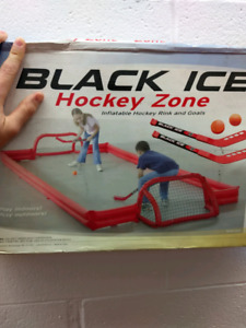 Mini stick hockey game full set with inflatable rink