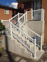 Stair Glass railings columns gates posts. We are on Homestars