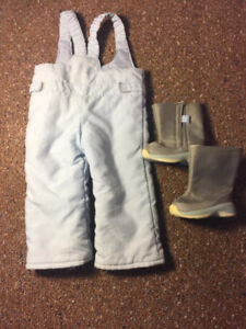 American girl snow pants and boots