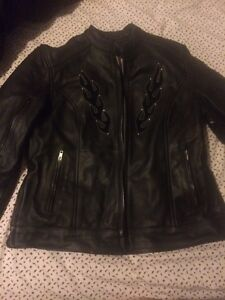 Brand new, tags still attached, women's leather coat