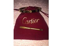 Cartier bangle 18k Gold plated