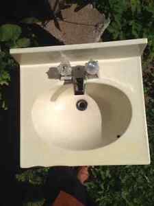 Sink and faucet 19 by 17inch