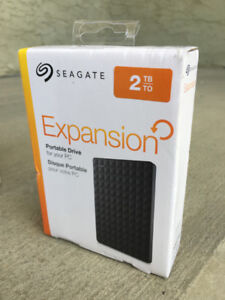 2 TB Seagate Expansion Portable External Hard Drive, New