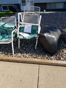 Free lawn chairs and bag of insulation