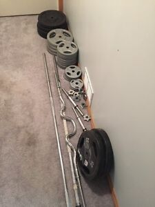 Free weights and bars for sale