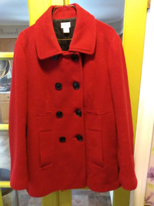 Cranberry Red Motherhood Maternity Winter Coat / Jacket