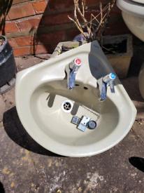 Toilet , basin & toilet roll holder