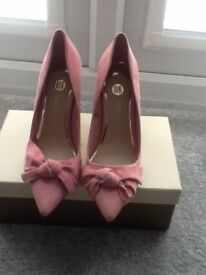 River island pink heels size 6 new