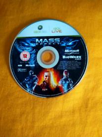 X-box 360 Mass Effect game