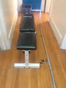 weight bench (and weights)