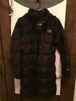 The North Face black 3/4 length coat. Size Small