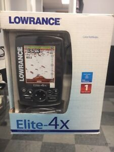 Lowrance Elite-4x Color Fish Finder - New in Box!