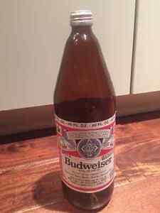 Budweiser - 40 oz glass bottle - 1980's