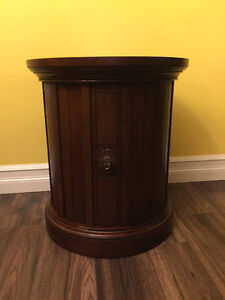 Stunning Solid Wood Round Side Table.