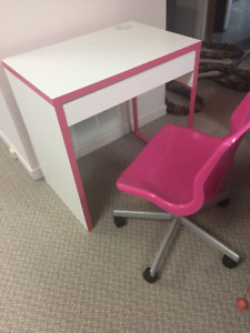 Children's desk and chair (Ikea) excellent condition