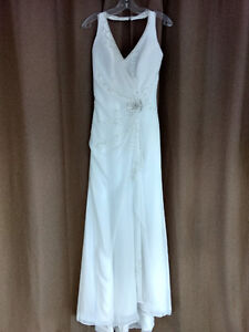 NEW Mon Cheri Beaded Halter Gown