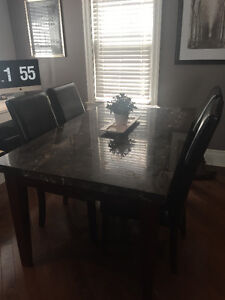 Marble Top Dining Table w/6 chairs