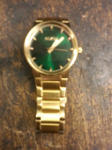14k Gold Plated Nixon Stainless Steel Designer Watch