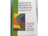 Qualitative Methods in Psychology- a research guide