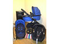 iCandy peach 3 cobalt travel system and maxi cosi car seat like new, immaculate! Smoke/pet free