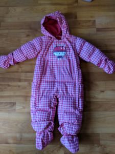 Souris Mini 6/9 month Pink Snowsuit