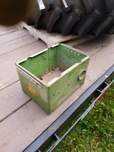 John Deere Model G Battery Box with battery tray.