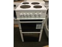 Beko electric cooker 50cm wide with a warranty of three months