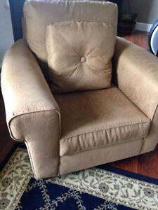 Upholstered chair and cushion Prince George British Columbia image 1