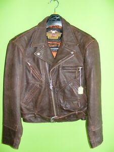 Harley-Davidson Jacket - Brown - Small - Embossed at RE-GEAR