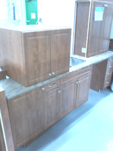 Aurora Oak Kitchen and Counters w/Stone top