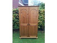 Large double pine wardrobe