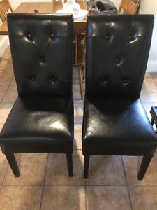 2 Black Button Back Chairs from Homesense