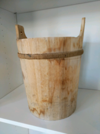 Wooden fire wood bucket