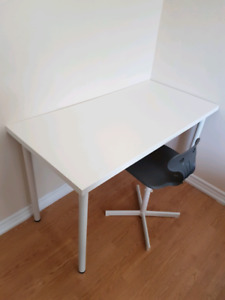 White office desk & chair for sale!!