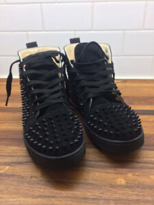Christian Louboutin Louis Flat Spike High Top Sneakers