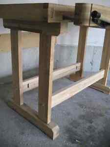 Woodworker's Bench - Solid Maple w/tail and side vises Kitchener / Waterloo Kitchener Area image 6