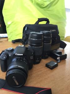 Canon EOS 1200D Digital SLR Camera with 3 lenses