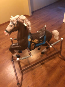 Toddlers Jumping Horse