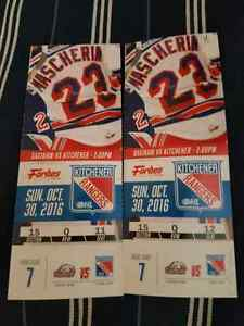40$   Kitchener Rangers vs Saginaw Spirit Sunday October 30th