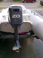 2010 Grand S330 Hard Bottom Inflatable with Trailer + 20HP Motor