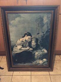 Large stretch canvas print of 2 Italian ladies