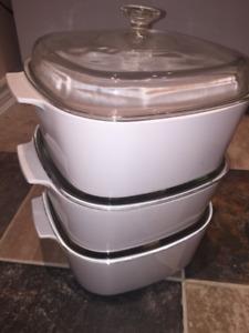 Corningware 3 Pots Set