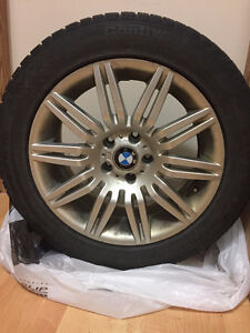 Factory 18in BMW 7 series rims  winter tires,