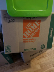 Approx. 30 small and medium home depot moving boxes for sale
