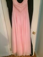 BABY PINK PROM/BRIDESMAIDS DRESS SIZE 8