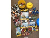 Joblot of Lego cars manuals helicopter mission to Mars Ferrari Lego head city